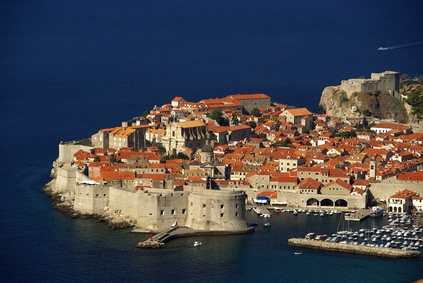 Luftbild von der Alstadt von Dubrovnik