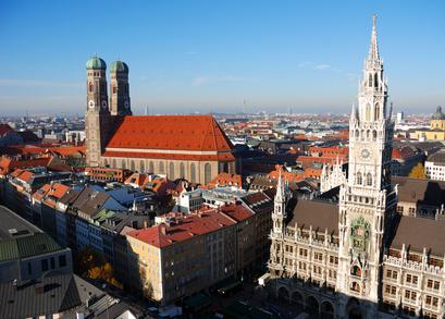 München Rathaus und Frauenkirche